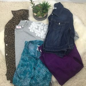 Clothing Lot Bundle 5 pc 1X Chico's & more